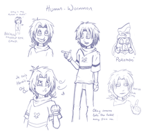 Wormmon the Hooman by CharlotteTurner