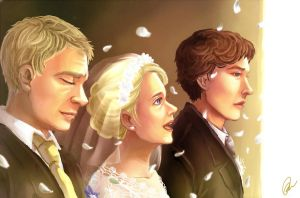 BBC Sherlock : Mary and John's Wedding by ForeverMedhok