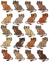TLK Adoptable Cubs (Gone) by Claire-Cooper