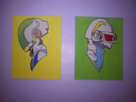 Daft Punk Canvas by fionachitauro