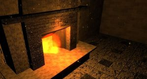 Fire place and fire effect test in Unity3D by Deadly-Mist-Man