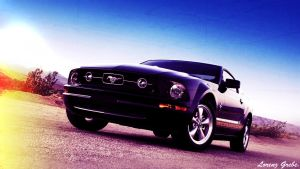 Awsome Mustang in the Desert by THELGFX