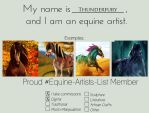 My template for equine-artists-list by Thunderfury-studs