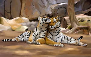 Tiger Love-Valentines Day 10 by unistar2000
