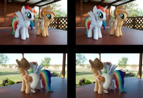 Stereo 3D Pony Plushies by adamlhumphreys
