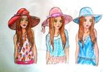 Super Hats Collection: Wide Brim Hats 2 by Ana901