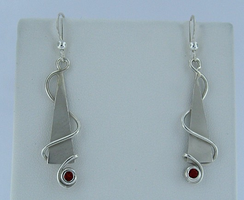 Red Hot Silver Swirls by GipsonDiamondJeweler