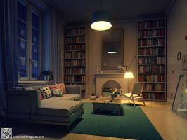 The interior in the Scandinavian style. by archirost
