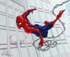 Spiderman (color and Background) by aeanchile