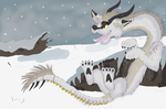 Catching Snowflakes by AchillesWolf
