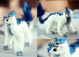 Art Doll: White and Blue Dragon by Niicchan