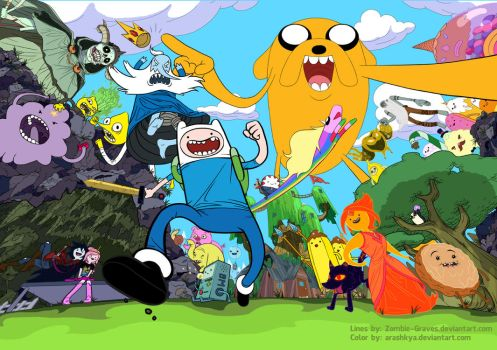 ::COLLAB:: Adventure Time!! by arashkya