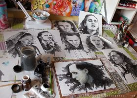 Just got Loki'd - Workspace full of Loki inks by AuroraWienhold