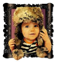 Girl with a furry hat. by UnderInspired