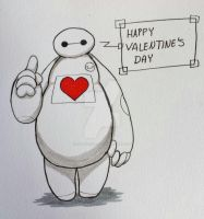 Happy Valentines Day from Baymax by swiftdreamer15