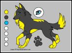Sky wolf ref sheet for lillian by cambria21