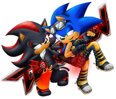 Rivalry: Shadow and Sonic by SpainOyabun