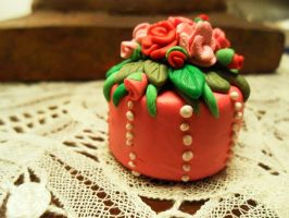 Pink Rose Cake by Eminentia