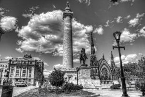 Washington Monument in Mt Vernon Baltimore by DarkPhoenix36