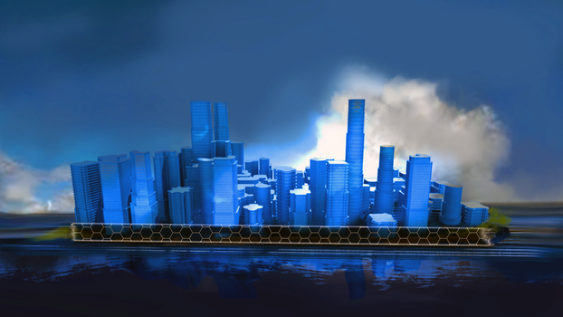 City intro frame by CoffeeToy