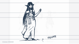 Hecate character sketch by K-hermann
