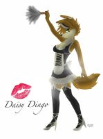 Request Raffle: Daisy Dingo French Maid by SquareSausage