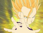 Gohan Immersed in power by glitch13