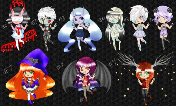 (Halloween) Adopts Set 6 [OPEN] by HomeCooked