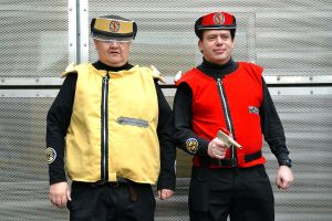 Captain Scarlet and Captain Ocre Cosplay by masimage