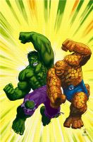 Hulk Vs. Thing by gatchatom