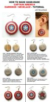 Captain America Earrings - tutorial by UnicatStudio