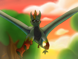 evening glide comish by safirethedragon