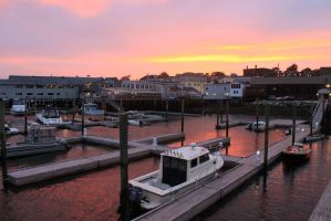 Sunset over Boothbay Harbor by bydandphotography
