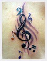 music tattoo by jotatr3s