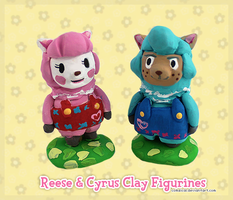 Reese and Cyrus Clay Figurines by Comsical