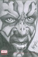 Darth Maul Sketch Card by kevindoyleart