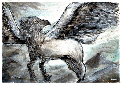 COMMISSION: Harry Potter - Hippogriff by Chooone