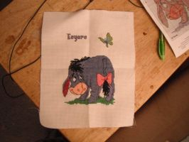Eeyore cross stitch by dottypurrs