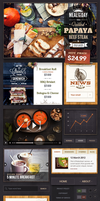 Restaurant UI Kit by sandracz