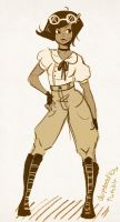 AVIATOR PANTS by LunaMiel