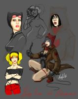 Draft Harley Quinn and Catwoman by SailorAwful