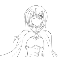 Sayaka lineart by darthplegias