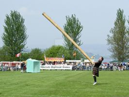 Caber Toss by MairStudio