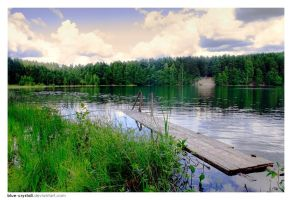 Lake in Enchanted Forest by blue-crystall