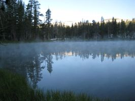 Steamy mirror lake by MEDMGB