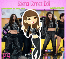 Selena Gomez Doll (performance en GMA 2013) by RoohEditions