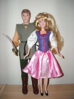Taran and Eilonwy Custom Dolls by Mickeyminnie