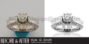Diamond Ring Before and After by SmithByDesign