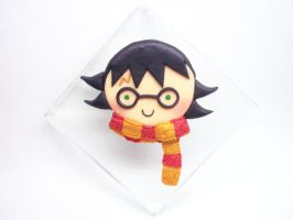 Harry Potter Chibi Face Paperweight by AutumnLeong