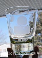 1up Etched Glass by MelloReflections